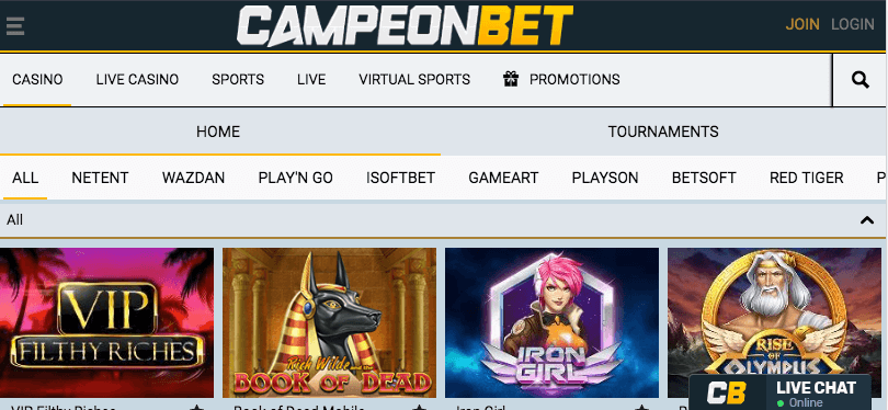 Campeonbet mobile app preview