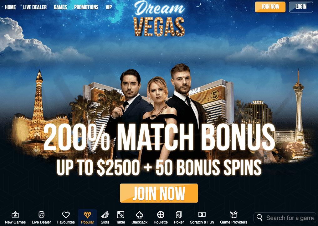 Dream Vegas desktop preview