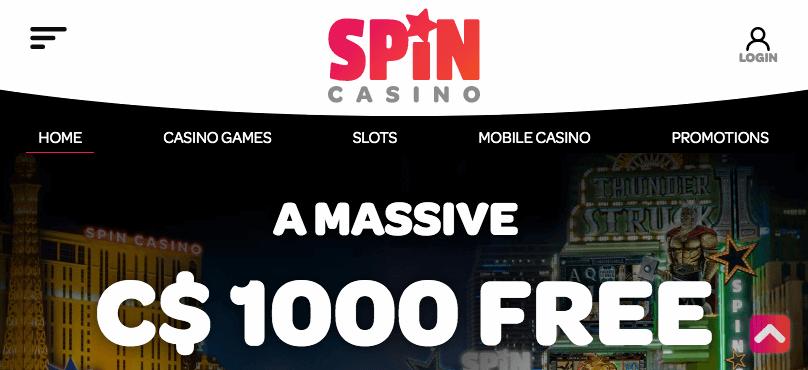 Spin Casino mobile app preview