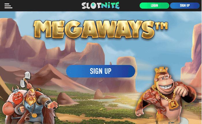 Slotnite Casino desktop preview