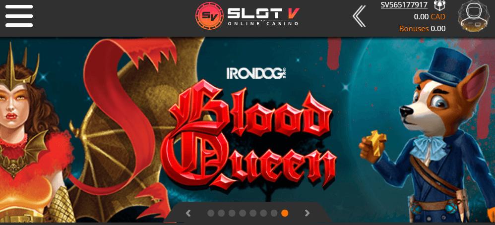SlotV Casino mobile app preview