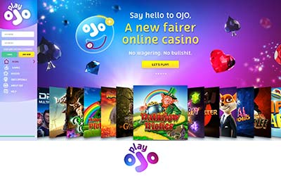 PlayOjo Casino desktop preview