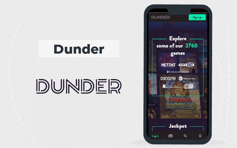 dunder casino - mobile version