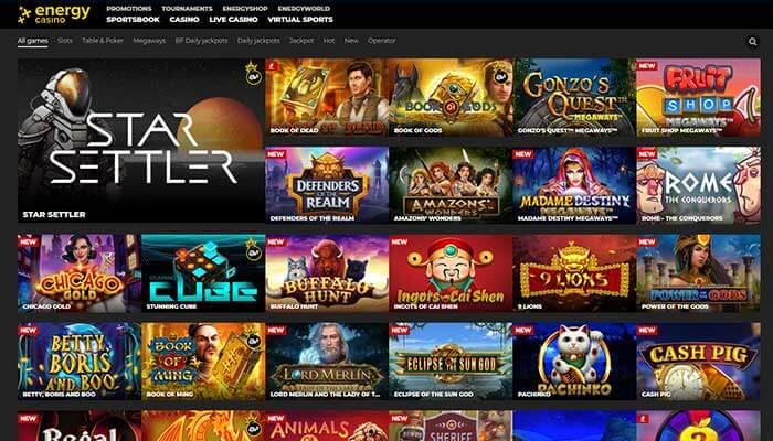 Energy casino all games preview