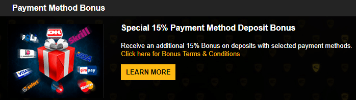 ★ 15% Payment Method Deposit Bonus up to CA$1000 at Enzo Casino