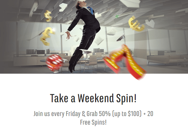 ★50% Weekly Match Bonus up to C$100 + 20 Free Spins at Spinit Casino