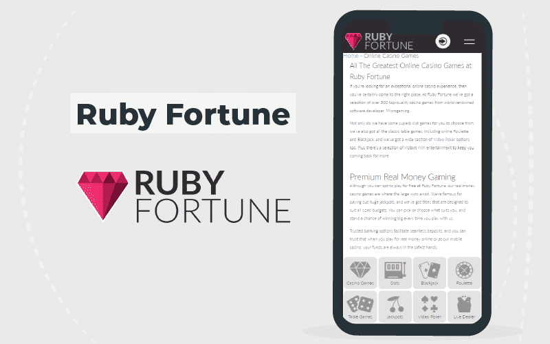 ruby fortune-mobile version