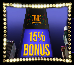 》15% Match Bonus on Skrill up to C$1000 at Times Square Casino
