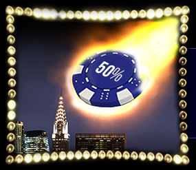 》50% Cashback at Times Square Casino