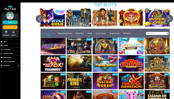 Play Club  Top Slots Preview