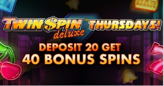 》40 Free Spins on Twin Spins Deluxe at Touch Lucky Casino