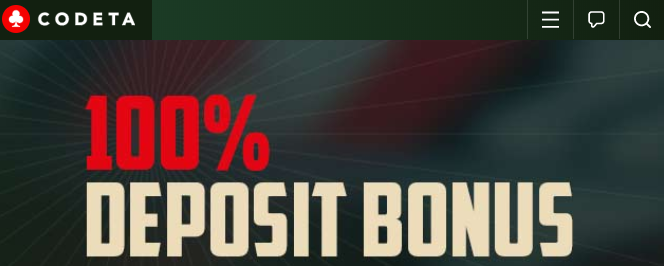 ★ 100% First Deposit Bonus up to C$300 at Codeta Casino