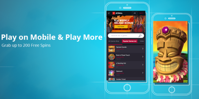 》200 Free Spins on Mobile at Jetbull Casino
