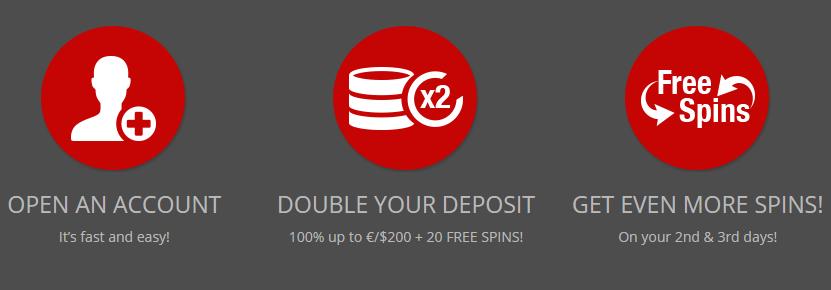 ★ 40 Free Spins Second Deposit Bonus at Magic Red Casino