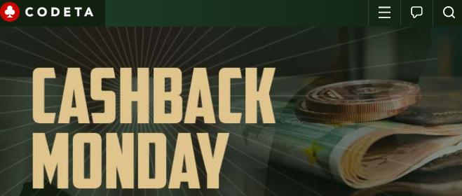 ★ 15% Cashback Bonus up to C$100 at Codeta Casino