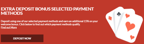 ★15% Match Bonus on Payment Methods at Casino Superlines