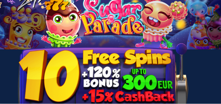 ★ 10 Free Spins on Sugar Paradise at ZigZag777 Casino