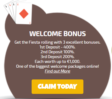 ★ 100% Second Deposit Bonus up to C$1000 at La Fiesta Casino