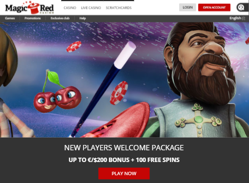 ★ Welcome Package up to C$200 + 100 Free Spins at Magic Red Casino