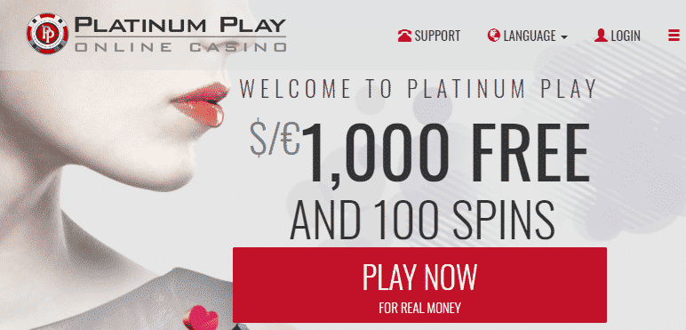 》100% Reload Bonus up to C$200 + 25 Free Spins at Platinum Play Casino