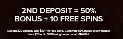 》50% Second Deposit Bonus + 10 Free Spins on Fa Fa Twins at Mobil6000 Casino