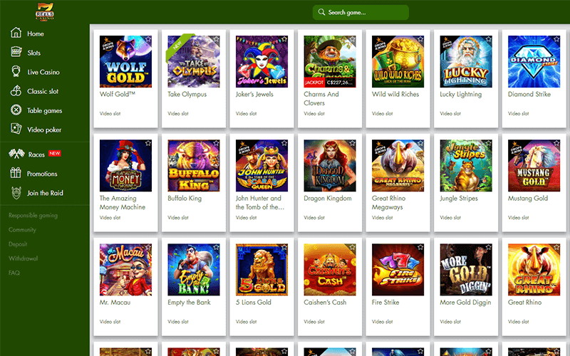 7reels Casino Games Preview