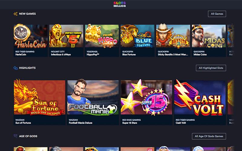 Slotsmillion Games Preview
