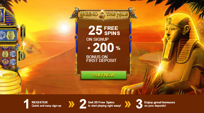★ 25 No Deposit Spins on Legend of the Nile at Thebes Casino