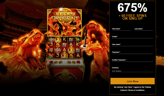 ★ 60 Free Spins + 675% Welcome Package at Thebes Casino