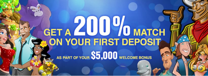》200% First Deposit Bonus up to C$1000 at Slots.lv Casino
