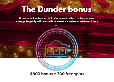 ★ C$600 + 200 Free Spins Welcome Package at Dunder Casino