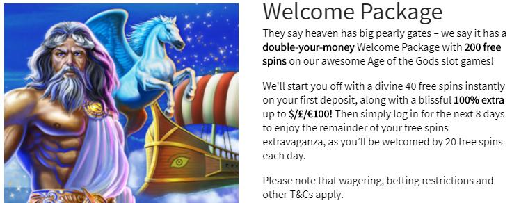》200% First Deposit Bonus up to C$400 + 200 Free Spins at Slots Heaven