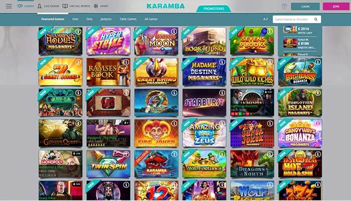 Karamba Casino Featured Games Preview