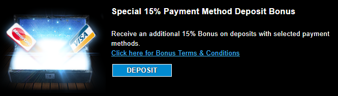 》15% Match Bonus on PostePay at Company Casino