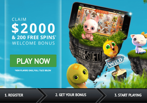 Welcome Package up to C$2000 + 200 Free Spins at GoWild Casino