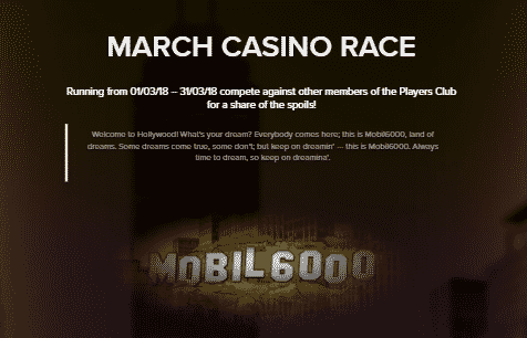 》March Casino Race at Mobil6000 Casino