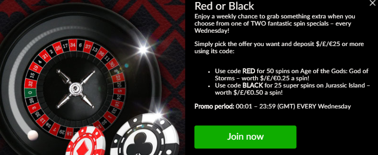 》Red or Black Spins Bonus at Mansion Casino