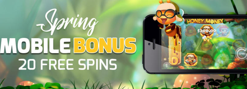 ★20 Free Spins on Honey Money on Mobile at Vegas Crest Casino