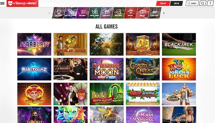 Vegas Hero Games Preview