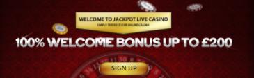 》100% First Deposit Bonus up to C$200 at Jackpotlive Casino