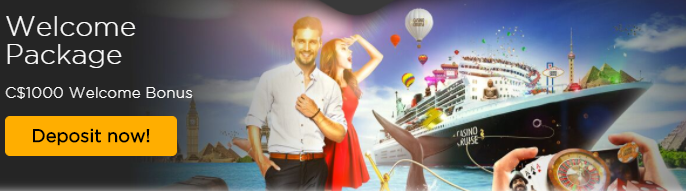 ★100% First Deposit Bonus up to C$200 at Cruise Casino