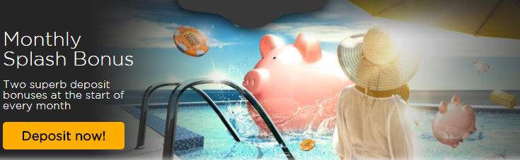 ★Monthly Splash Bonus at Casino Cruise