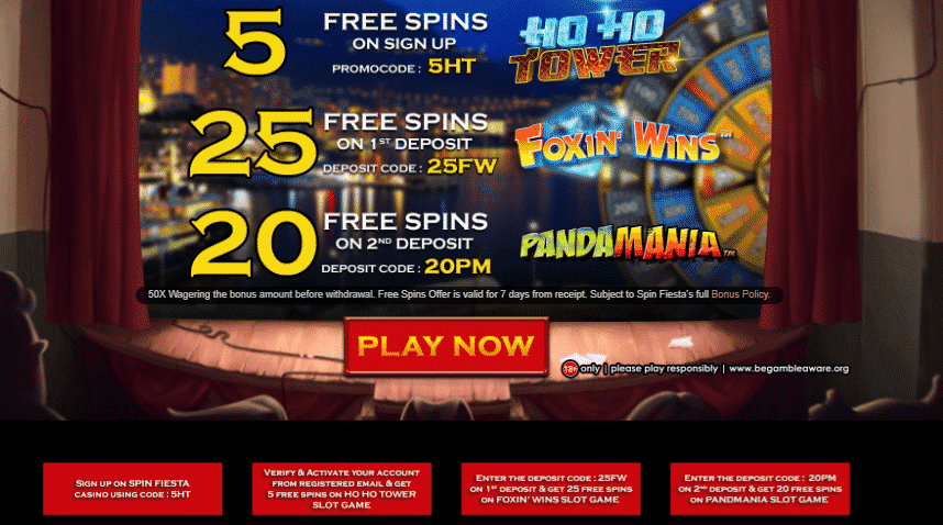 ★ 50 Spins + 100% Welcome Package up to C$200 at Spin Fiesta Casino