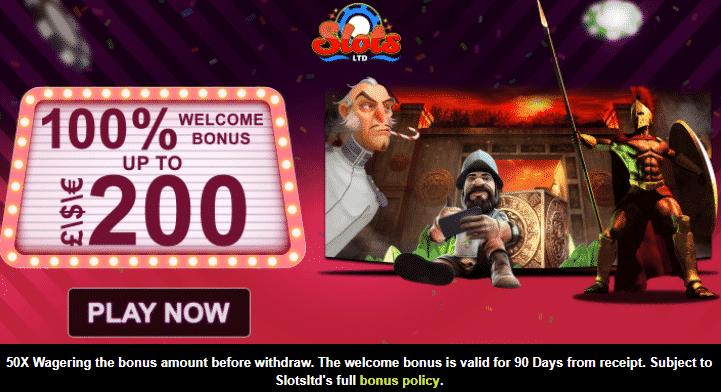 ★ 100% First Deposit Bonus up to C$200 at Slots Ltd Casino