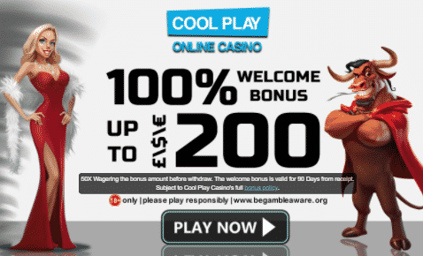 ★ 100% First Deposit Bonus up to C$200 at Cool Play Casino