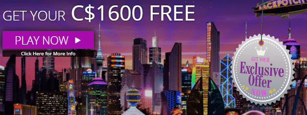 ★ 100% First Deposit Bonus up to C$400 at JackpotCity Casino