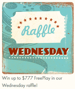 ★ C$777 Wednesday Raffle at 777 Casino