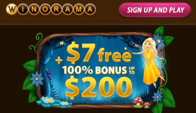★ C$7 No Deposit Bonus at Winorama