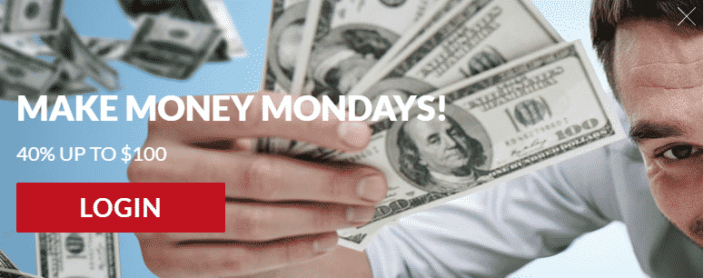》40% Monday Match Bonus up to C$100 at Casino-Mate