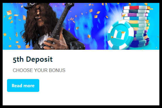 》Reload Bonus on 5th Deposit up to C$1000 at Casino Room
